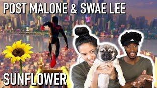 Post Malone Swae Lee  Sunflower Spiderman Into The Spiderverse  Reaction