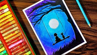 Download Dream Scenery for Beginners with Oil Pastel - Step by Step Video