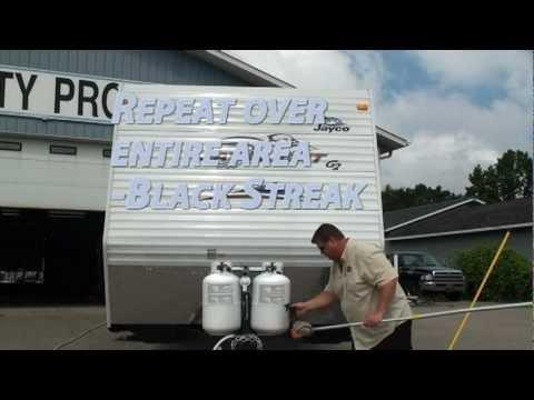 Washing RV Exterior, Removing Black Streaks from RV - Black Streak Remover, Super Suds   Bio-Kleen