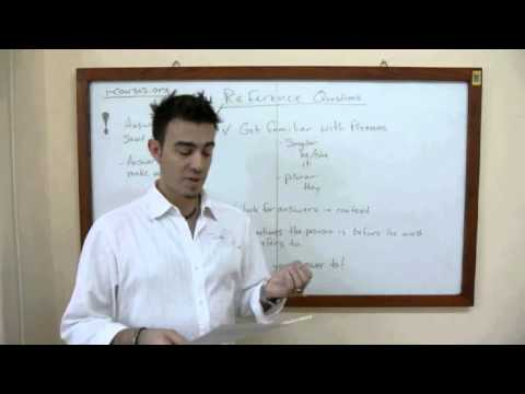 TOEFL iBT Reading Section Reference Questions - Video Lesson | www.i-Courses.org