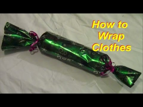 How to Wrap Clothes Neatly