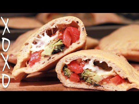 Pizza Pocket Recipe w/ bread machine pizza dough, feat. Brothers Green