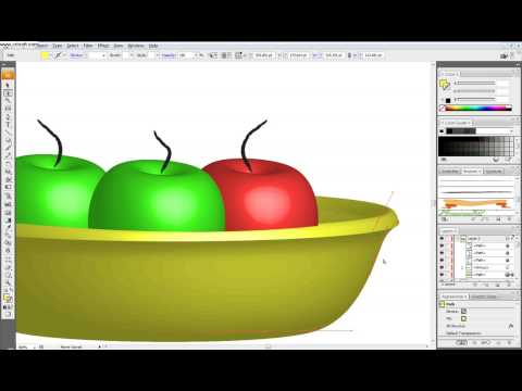 Illustrator Tutorial: Apples and Saucer (Rotate Revolve 3D effect)