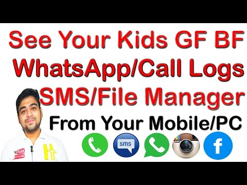 How to See ||Kids ||BF|| GF|| Friend's WhatsApp|| Gallery||SMS||Call Logs||From ||Mobile||PC|| Hindi