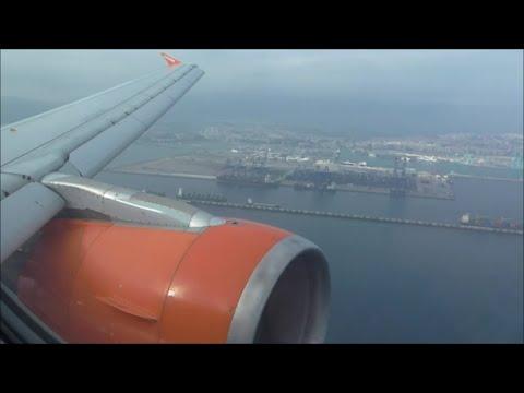 EasyJet Airbus A319-111   London Gatwick to Gibraltar *Full Flight*