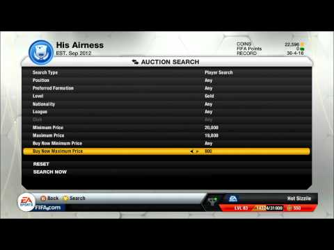 FIFA 13 Ultimate Team   Trading Tip -