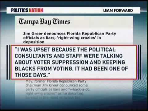 Former FL GOP Leader_ We Wanted to Suppress Black Votes