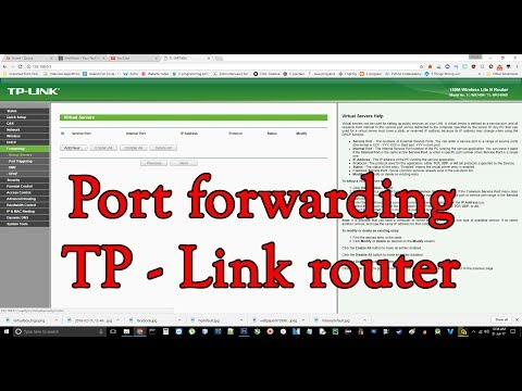 How to forward a port in tp link router(game ranger)
