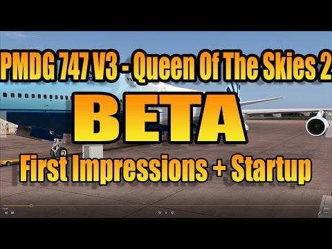 Download [FSX] PMDG 747 V3 BETA - STARTUP