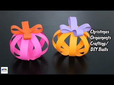 Origami Christmas Ornaments Crafting Balls Paper Instructions   DIY Origami Balls Tutorial