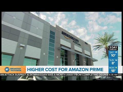Amazon Prime membership fee to rise in the U.S.