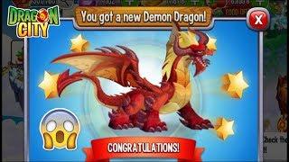 Dragon City - Claimed DEMON DRAGON + Fighting Reward [SEASON END 2018]