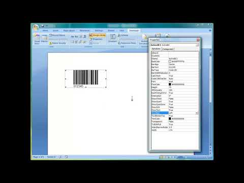 How to create barcode in Word 2007