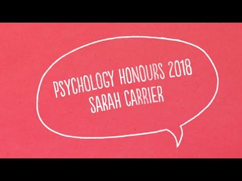 Psychology Honours 2018 (Sarah Carrier)