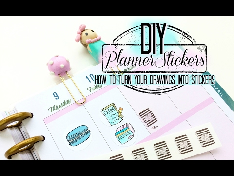 How to Make Planner Stickers from Your Drawings Without a Cutter | DIY