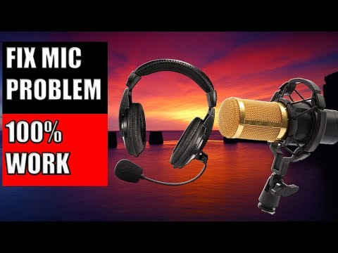 How To Fix Microphone Audio - Microphone Not Working in Windows 7/8/10