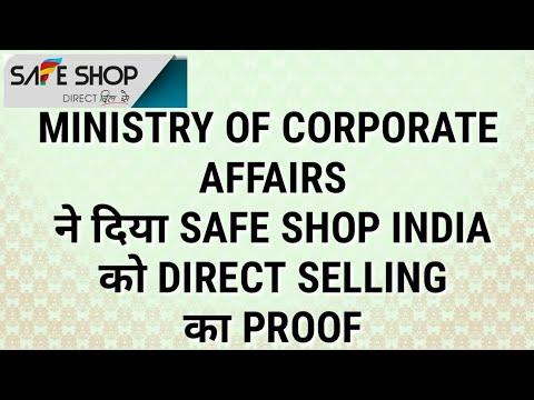 SAFE SHOP : को MINISTRY OF CORPORATE AFFAIRS ने दी इजाज़त,PROOF देखिये   SAFE SHOP INDIA