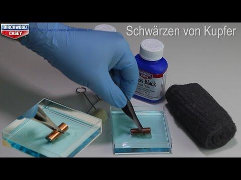 Kupfer schwarz färben - Schwärzen - Brass Black Brünierung