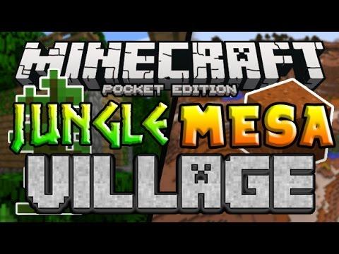 JUNGLE MESA VILLAGE!! Minecraft PE Seed (Pocket Edition)