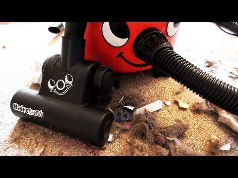 Henry the Hoover Vacuuming VERY DIRTY CARPET with a HairoBrush ~ ASMR Sound ~ Vacuum Cleaner Noise
