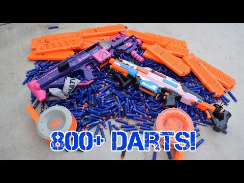 SHOOTING 800+ NERF DARTS AS FAST AS POSSIBLE   Ft. Jangular