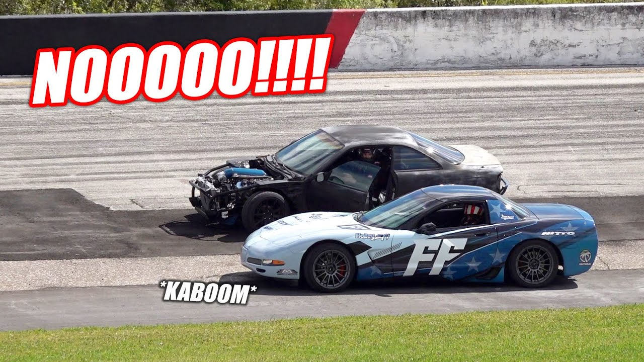 We BLEW UP The Engines in TWO Cars Right Before FF Drift Night... (High Speed Engine Swap Engaged)