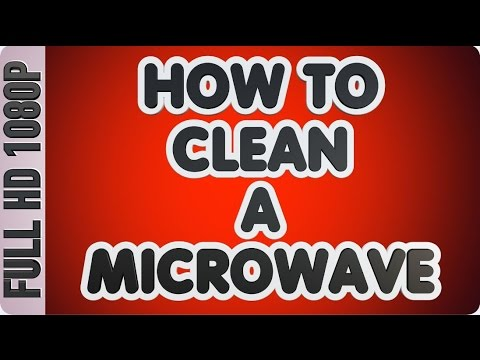 How to clean a microwave | stainless steel microwave cleaning