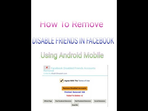 How To Remove Disable Friends In Facebook | Mobile