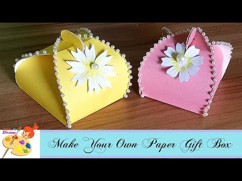 How to make paper gift box /easy craft for kids