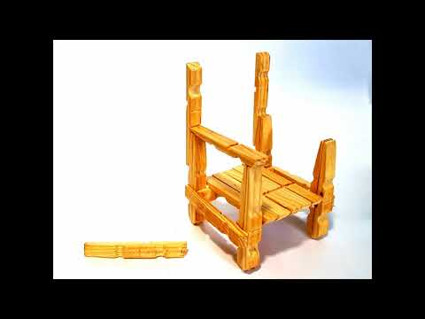 Wood clothespins chair made