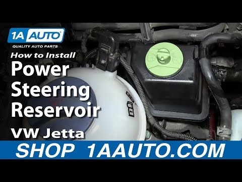 How To Install Replace Power Steering Reservoir 1999-06 VW Jetta and Golf