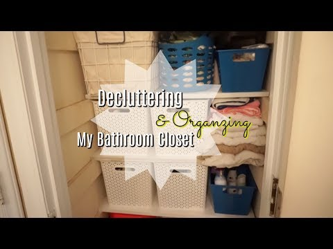 Organizing and Decluttering My Bathroom Closet! Ep. 2