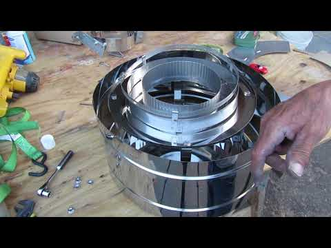 Obadiah's: How to Assemble The Chimney Cap and Pipe Bands