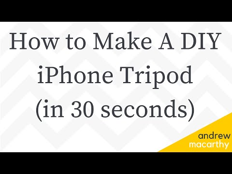 How to Make A DIY iPhone Tripod Stand in 30 Seconds | iPhone Hack