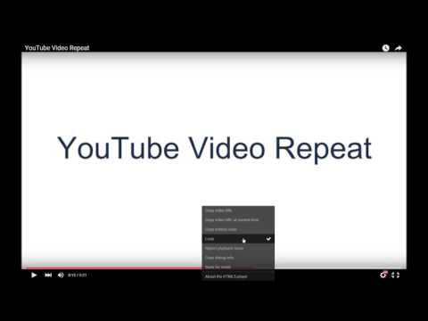 How to auto repeat a YouTube video