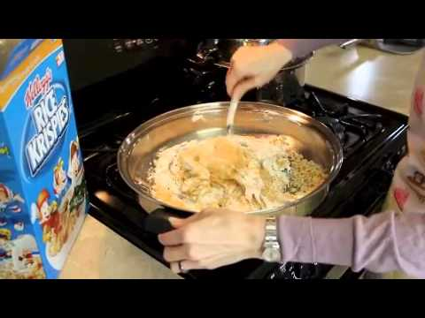 Gooey Rice Krispie Treats in the Wok
