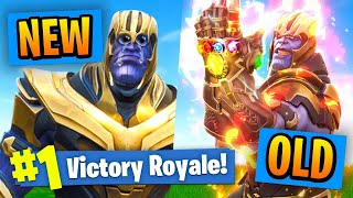 NEW VS OLD Thanos In Fortnite Battle Royale!