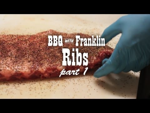 BBQ with Franklin: Pork Ribs part 1