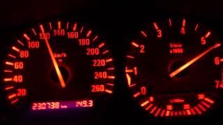 BMW 325 E36 2.5 201 KM & 262 Nm Coupe 0-205 km/h acceleration