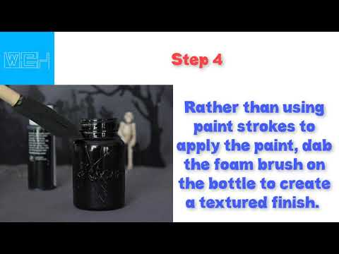 How to Make Spooky Witch's Jar Bottle Potion Decorations