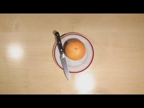 How beautifully and quickly cut grapefruit