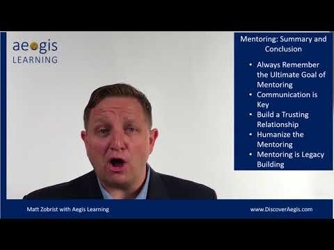 Leading Edge Video 33 Mentoring   Summary and Conclusion