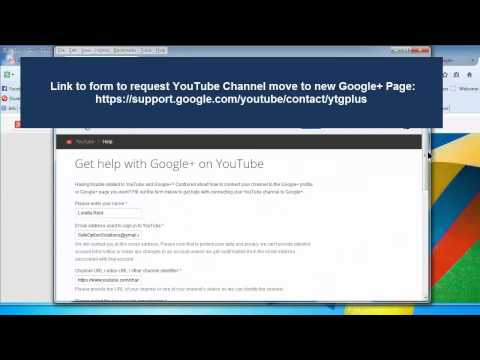 Move YouTube Channel to New Google Plus Page (2014)