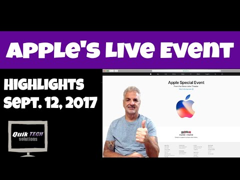 Highlights From Apple's Live Event - Sept. 12, 2017
