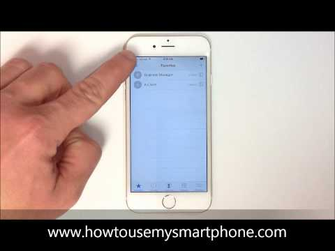 How to Remove Contacts from your Favorites - iPhone 6