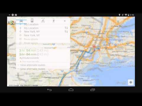 Start Navigation in Google Maps