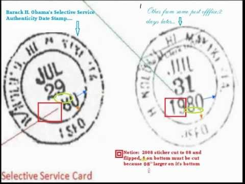 Barack Obama and Selective Service Card; Facts and Results.