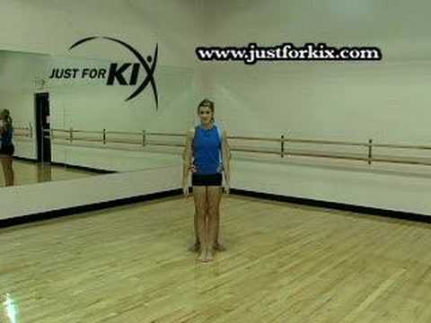 Toe Touch Exercises Tutorial and Demonstration from Just For Kix