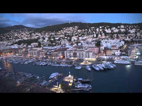 Nice, France Castle Hill view at  Dusk and Dawn