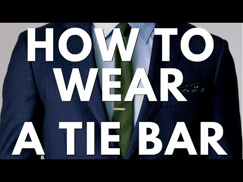 How To Wear A Tie Bar - Best Placement